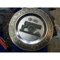 Настенная тарелка Царь-пушка. Москва. Кремль, 17 см.