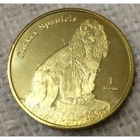 Сен-Бартелеми 1 франк 2019 Спаниэль