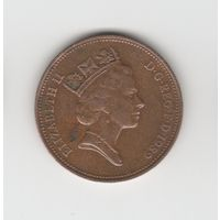 2 пенса Великобритания 1989 Лот 3532