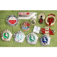 Набор спортивных значков из СССР