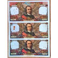 100  франков 1964,65,66 гг.