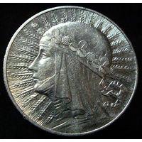 5 злотых 1932 (1)  AU, отличное коллекционное состояние