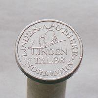 Немецкий аптечный жетон LINDEN TALER города Нордхорн