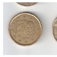 20 евроцентов 1999 года Испании