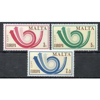 Европа СЕПТ Мальта 1973 год чистая серия из 3-х марок