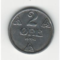 Норвегия 2 эре 1943 года. Цинк