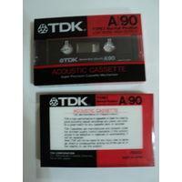 Аудио кассета  TDK A 90/Япония. Новая запечатанная.Цена за 1шт.В наличии 2шт.