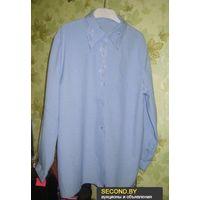 Блузка голубая р.52-54