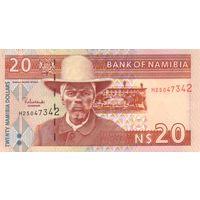 Намибия 20 долларов образца 2002 года UNC p6