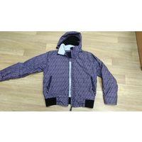Куртка деми/зима, типа Gore-tex фиолетовая, р.46