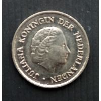 Нидерланды 25 цент 1977 г.