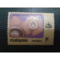 Малайзия Мелака 1979 цветы, герб