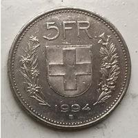 Швейцария 5 франков 1994
