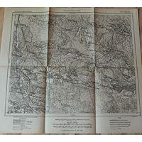 Оригинальная немецкая карта по ПМВ Логишин Новый двор(выше Пинска) 1915г