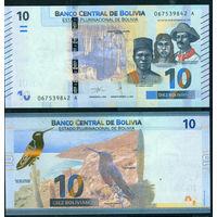 Боливия 10 боливиано 2018 UNC