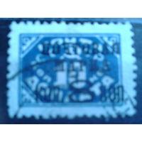 1927 надпечатка на 10 коп. без ВЗ перф. 12 Михель-18,0 евро гаш
