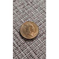 Австралия 1 цент 1988 г ( средней возраст королевы )