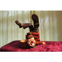 Клоун подсвечник  оргкерамика 13 см