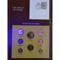 Оман полный набор 8 монет UNC