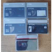 Видеокассеты MiniDV цена 15 рублей за 5 штук.