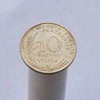 Франция 10 сантимов 1976
