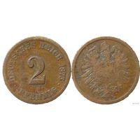 YS: Германия, Рейх, 2 пфеннига 1875F, KM# 2 (1)