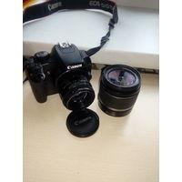 Зеркальный фотоаппарат Canon EOS 1000D+объектив