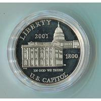 1 доллар 2001г.