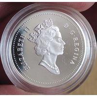 Монета 5 центов Канада 2000 год. Серебро! UNC!