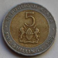 5 шиллингов 2005 Кения