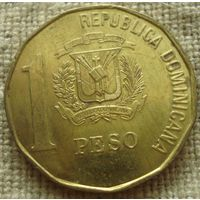 1 песо 1992 Доминикана