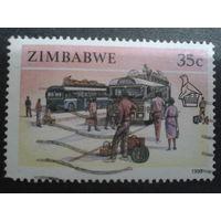Зимбабве 1990 автобусная станция