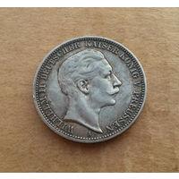 Германия (империя), 3 марки 1909 г., серебро, Вильгельм II (1888-1918)