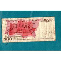 Польша 100 злотых 1986