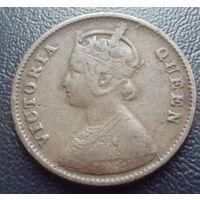 Британская индия. 1\4 анны 1862