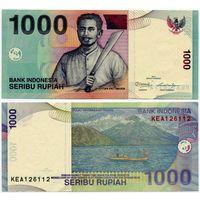 Индонезия. 1000 рупий (образца 2000 года, выпуск 2012, P141l, UNC)