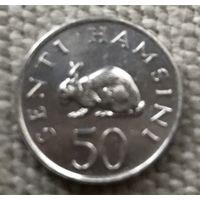 Танзания 50 сенти 1989 г.