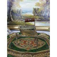 Старинный угольный утюг утюжок латунь бронза  Раритет В коллекцию АРТ 02-149