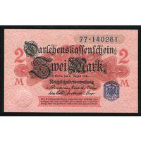 Германия. 2 Марки 1914 года. P55 UNC