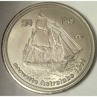 Остров БАССАС-да-ИНДИЯ 50 франков 2012 год (оригинал)