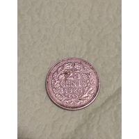 Нидерланды 25 центов 1928 СЕРЕБРО
