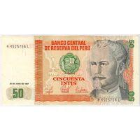 Перу, 50 инти 1987 года, A4525756L, UNC