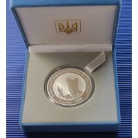 Медаль (серебро, 925) в честь визита Папы Иоанна Павла II ,2001 + сертификат