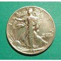 50 центов 1941 США серебро