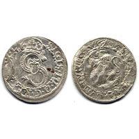 Шеляг 1605, Курляндия, Фридрих и Вильгельм Кеттлер. Коллекционное состояние, R3