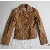 Стильный кожаный жакет BLEND, р.XS, 32-34