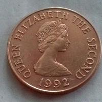 2 пенса, Джерси 1992 г., AU