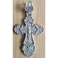 Серебряный мужской крестик с распятием. Православный.