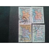 Ангола колония Португалии 1955 карта Анголы