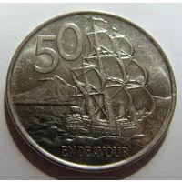 Новая Зеландия 50 центов 2006 г